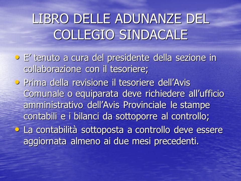 LIBRO DELLE ADUNANZE DEL COLLEGIO SINDACALE