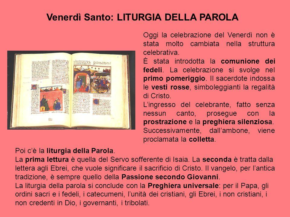 Venerdì Santo: LITURGIA DELLA PAROLA
