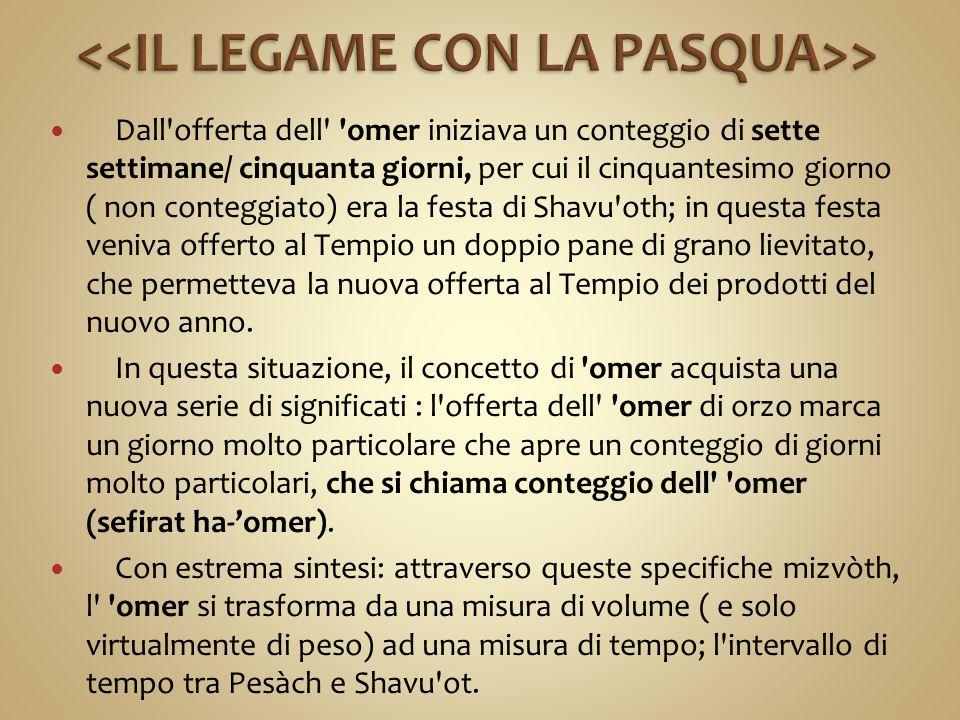 <<IL LEGAME CON LA PASQUA>>