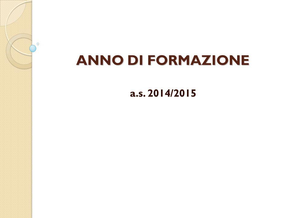 ANNO DI FORMAZIONE a.s. 2014/2015