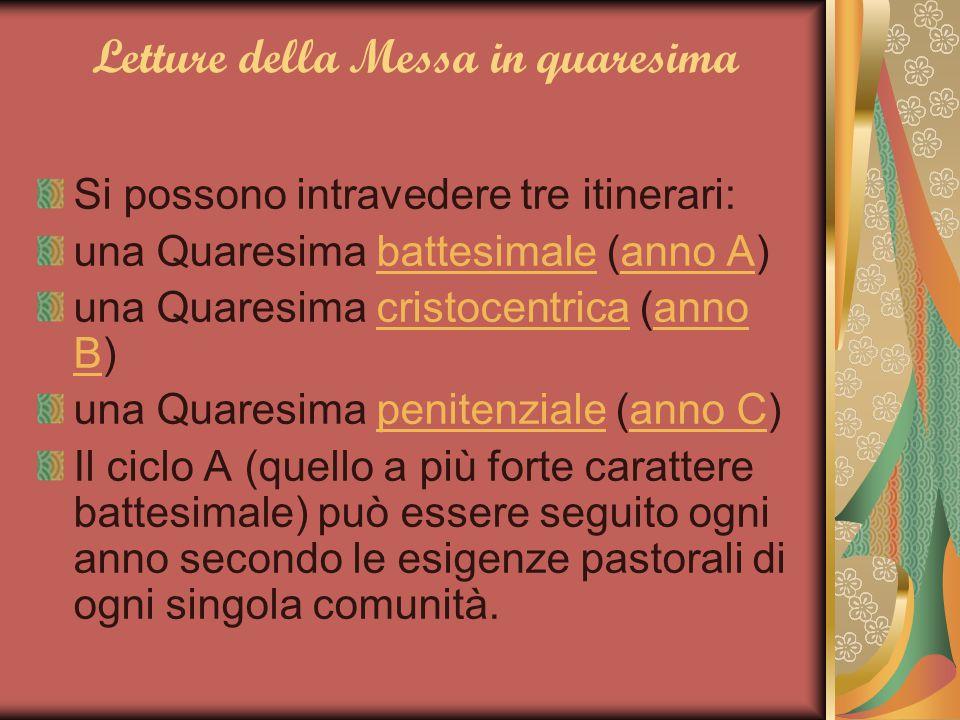 Letture della Messa in quaresima