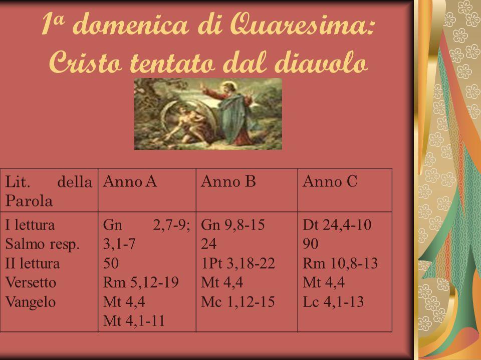 1a domenica di Quaresima: Cristo tentato dal diavolo