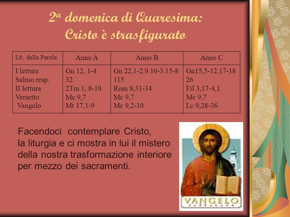 2a domenica di Quaresima: Cristo è strasfigurato