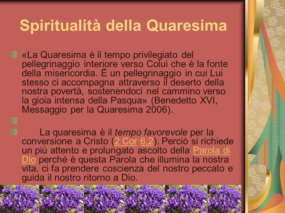 Spiritualità della Quaresima