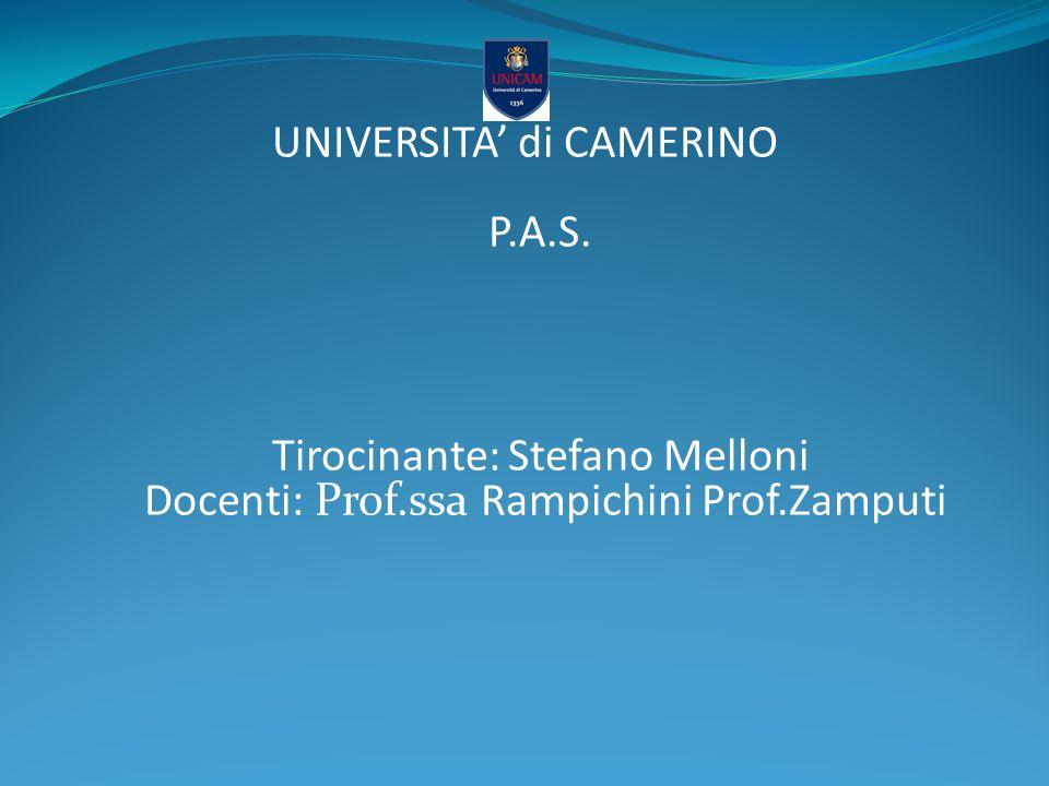 UNIVERSITA' di CAMERINO P. A. S