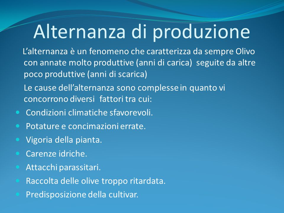 Alternanza di produzione