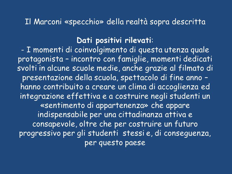 Il Marconi «specchio» della realtà sopra descritta