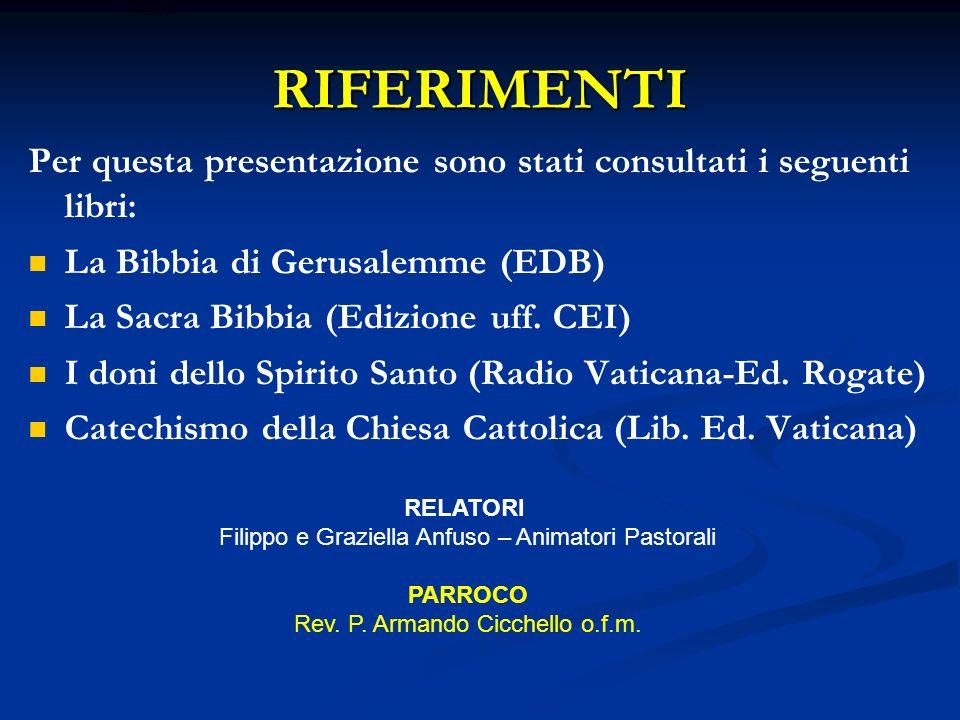 ritardoRIFERIMENTI. Per questa presentazione sono stati consultati i seguenti libri: La Bibbia di Gerusalemme (EDB)