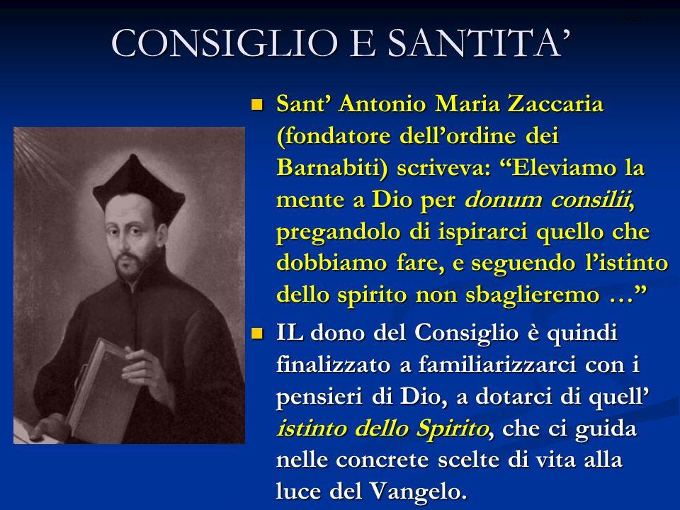 CONSIGLIO E SANTITA' ritardo.