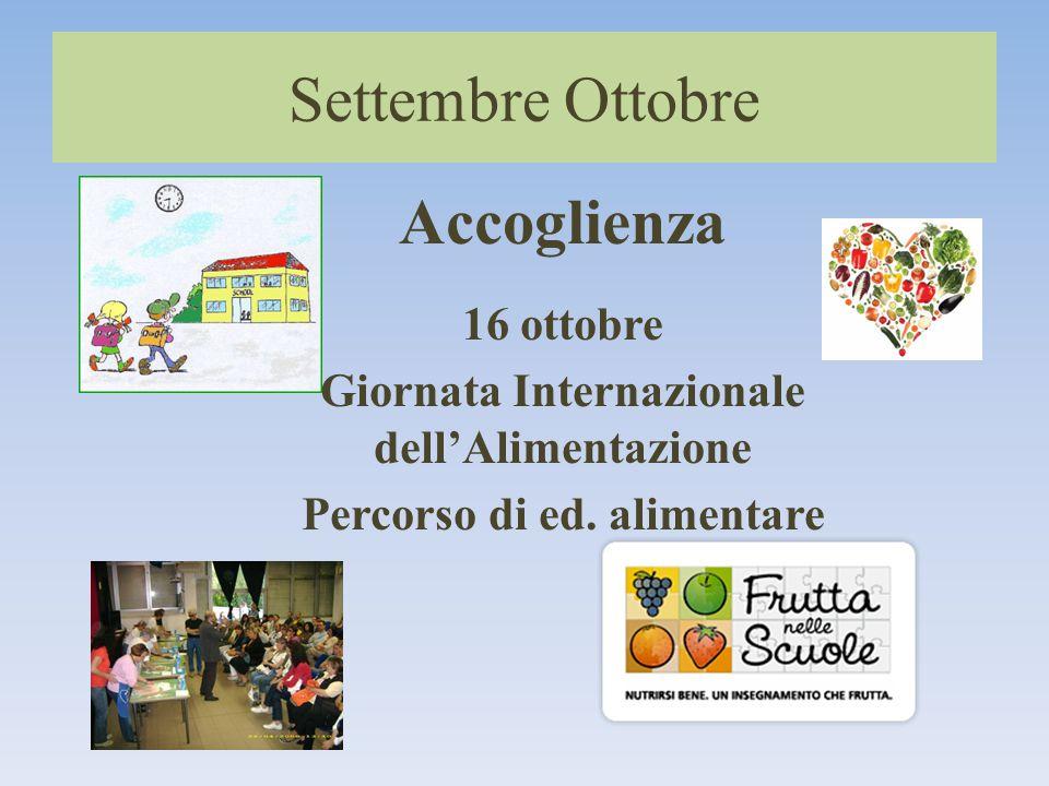 Giornata Internazionale dell'Alimentazione Percorso di ed. alimentare