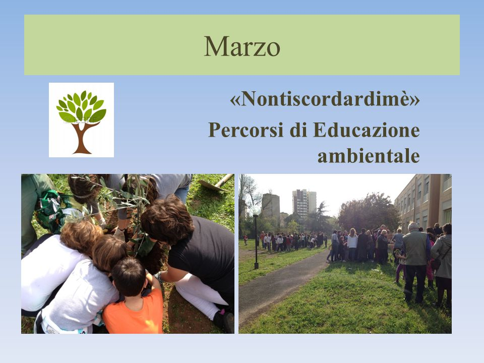 Marzo «Nontiscordardimè» Percorsi di Educazione ambientale