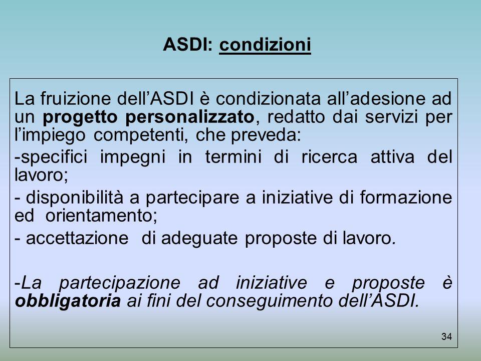 ASDI: condizioni