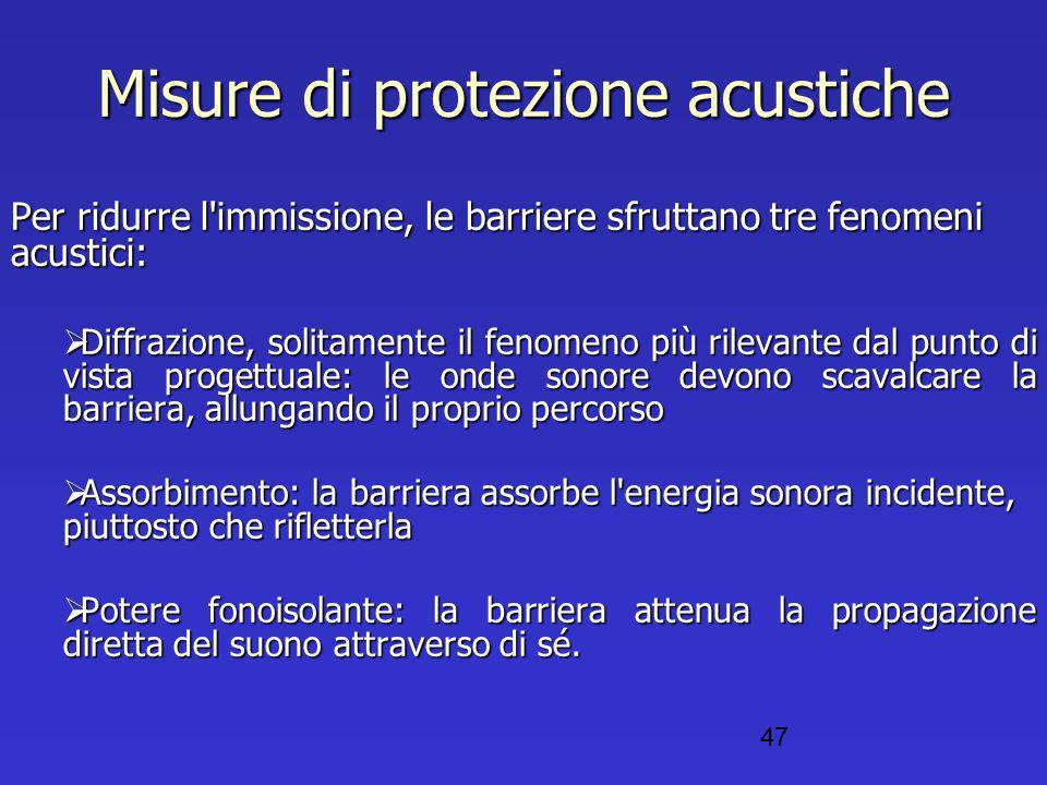 Misure di protezione acustiche