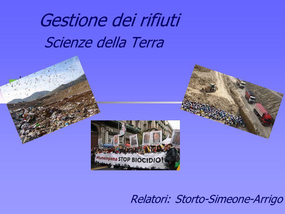 Gestione dei rifiuti Scienze della Terra