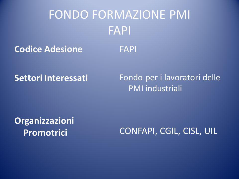FONDO FORMAZIONE PMI FAPI