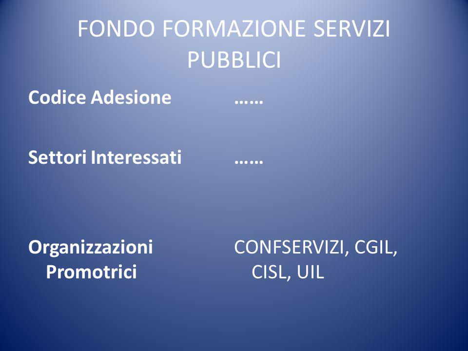 FONDO FORMAZIONE SERVIZI PUBBLICI