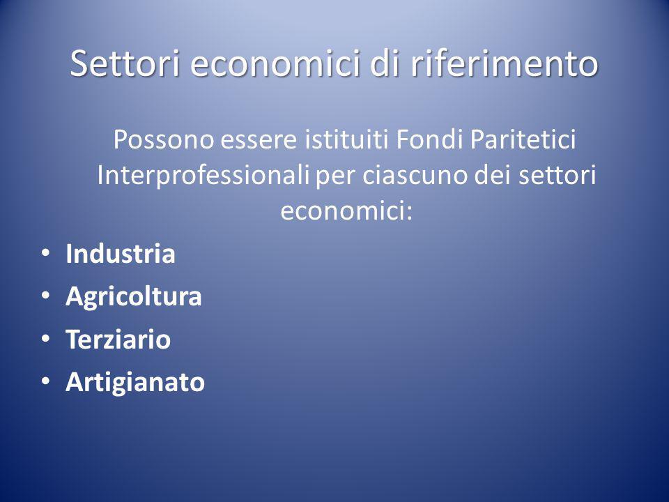Settori economici di riferimento