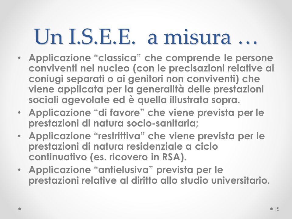 Un I.S.E.E. a misura …