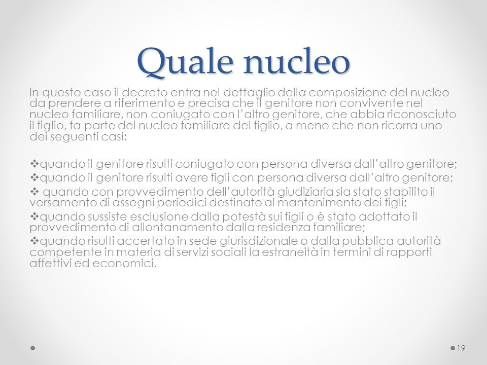Quale nucleo