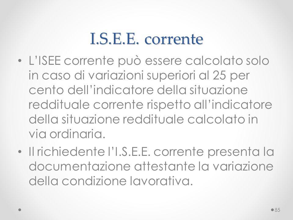 I.S.E.E. corrente