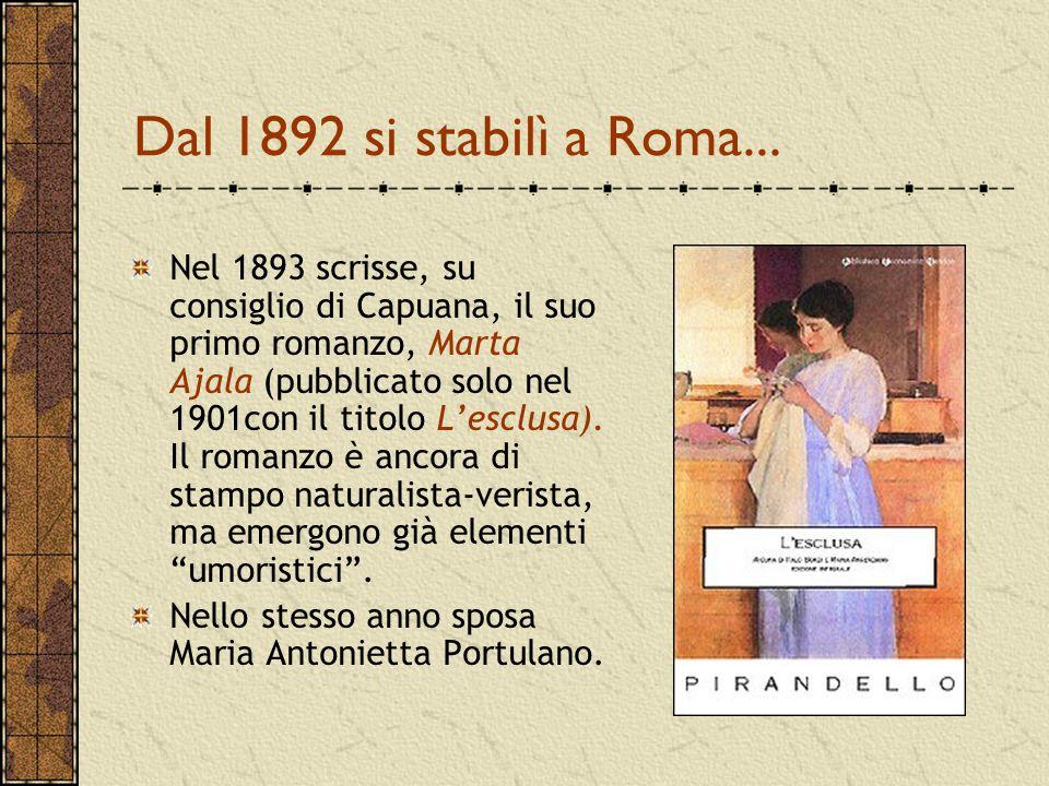 Dal 1892 si stabilì a Roma...