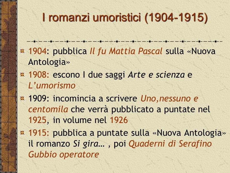 I romanzi umoristici (1904-1915)