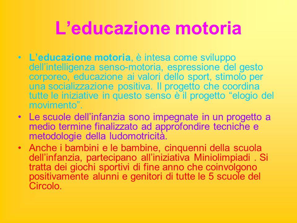 L'educazione motoria