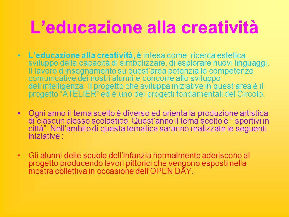 L'educazione alla creatività