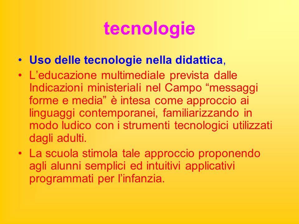 tecnologie Uso delle tecnologie nella didattica,