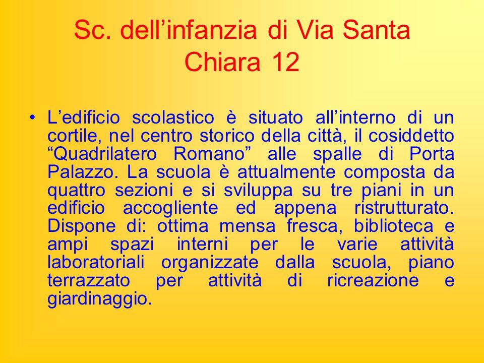 Sc. dell'infanzia di Via Santa Chiara 12
