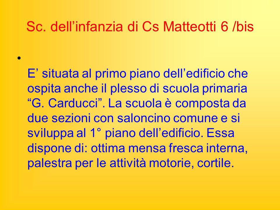 Sc. dell'infanzia di Cs Matteotti 6 /bis