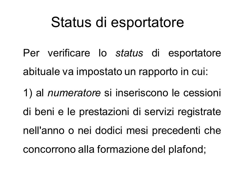 Status di esportatore