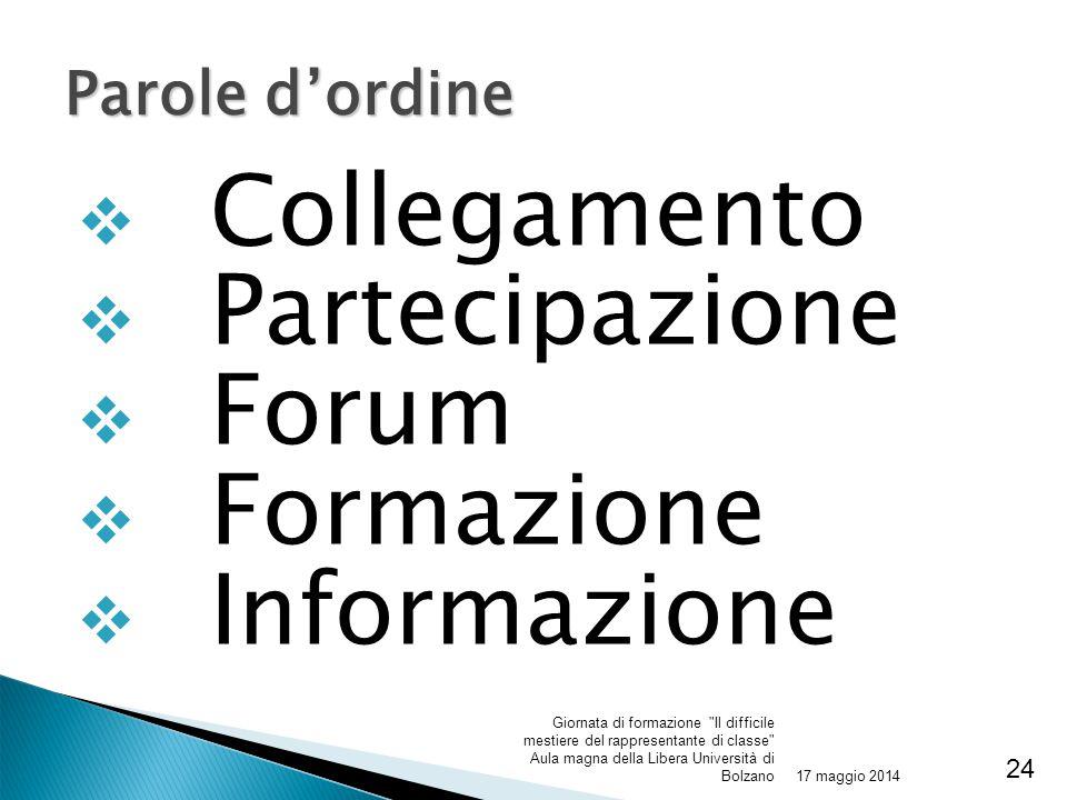 Collegamento Partecipazione Forum Formazione Informazione