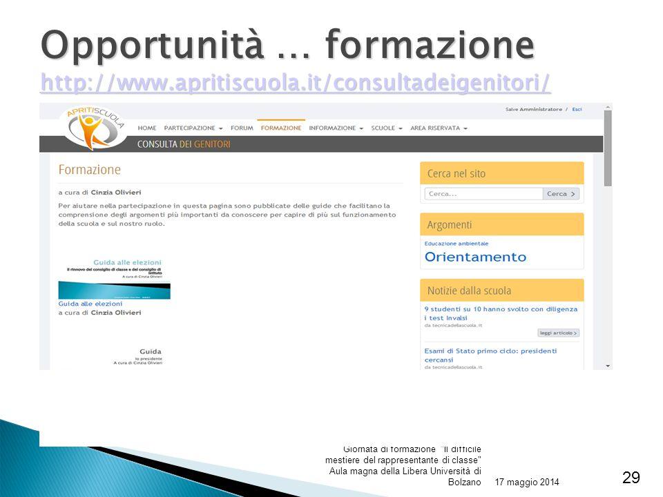 Opportunità … formazione http://www. apritiscuola