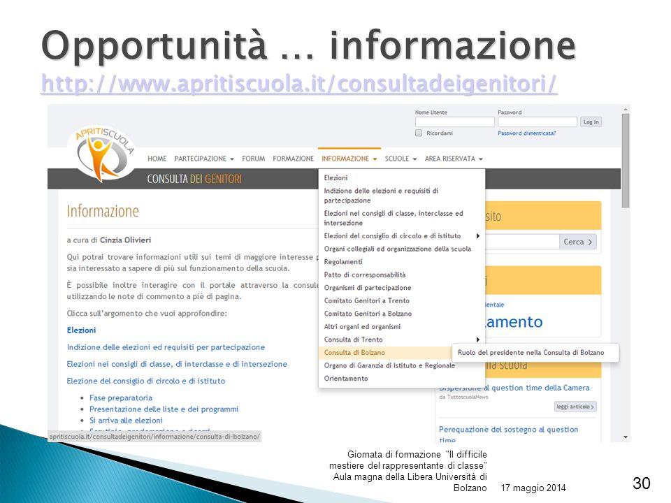 Opportunità … informazione http://www. apritiscuola