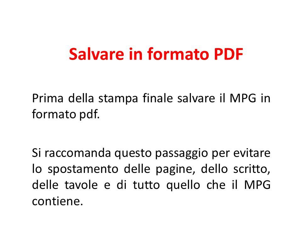 Salvare in formato PDF
