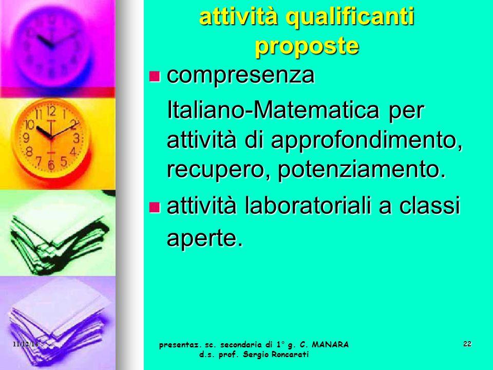 attività qualificanti proposte