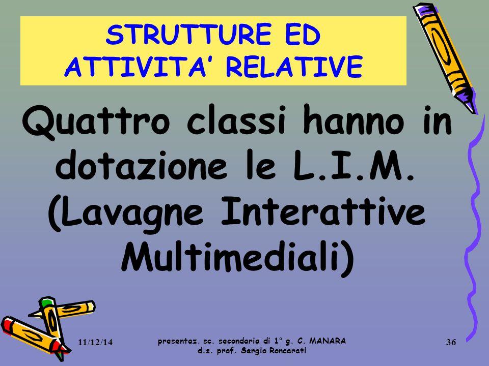 STRUTTURE ED ATTIVITA' RELATIVE
