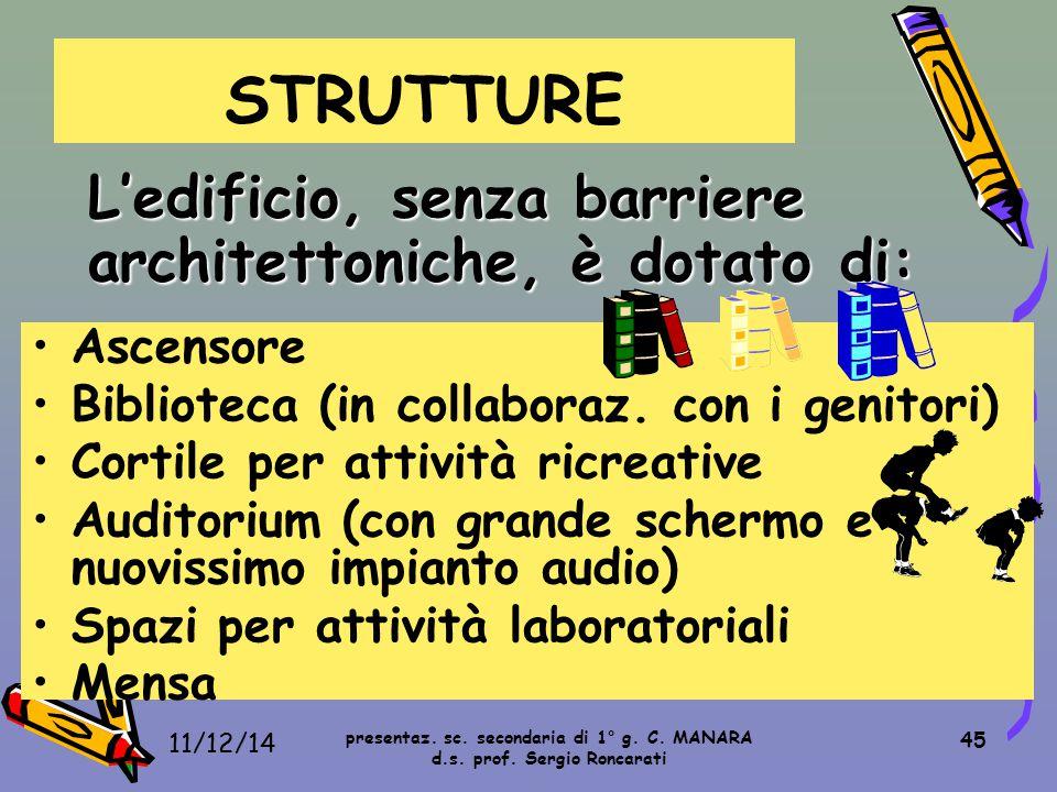 STRUTTURE Ascensore Biblioteca (in collaboraz. con i genitori)