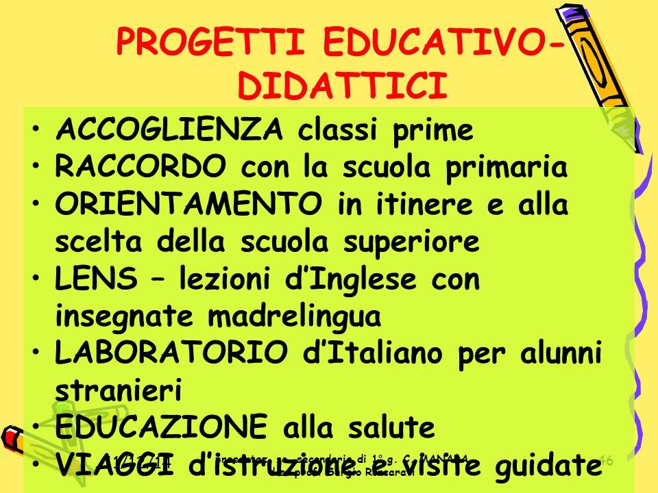 PROGETTI EDUCATIVO-DIDATTICI