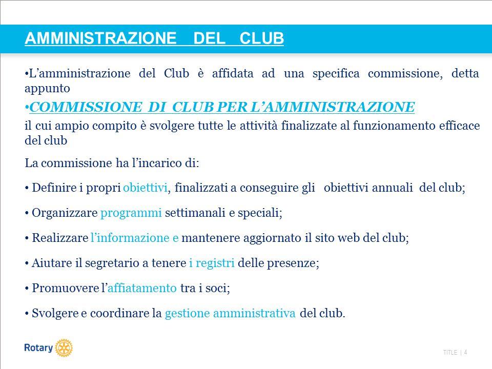 AMMINISTRAZIONE DEL CLUB
