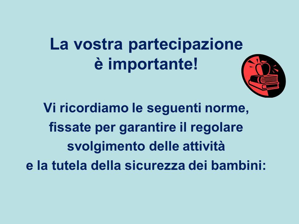 La vostra partecipazione è importante!