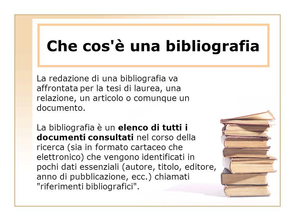 Che cos è una bibliografia