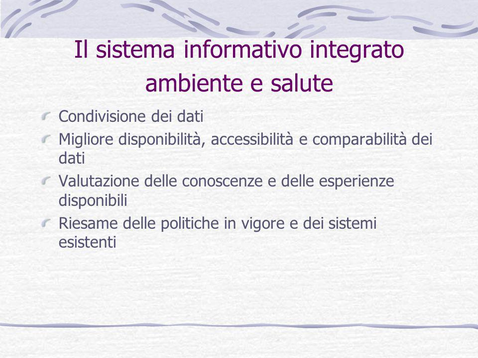 Il sistema informativo integrato ambiente e salute