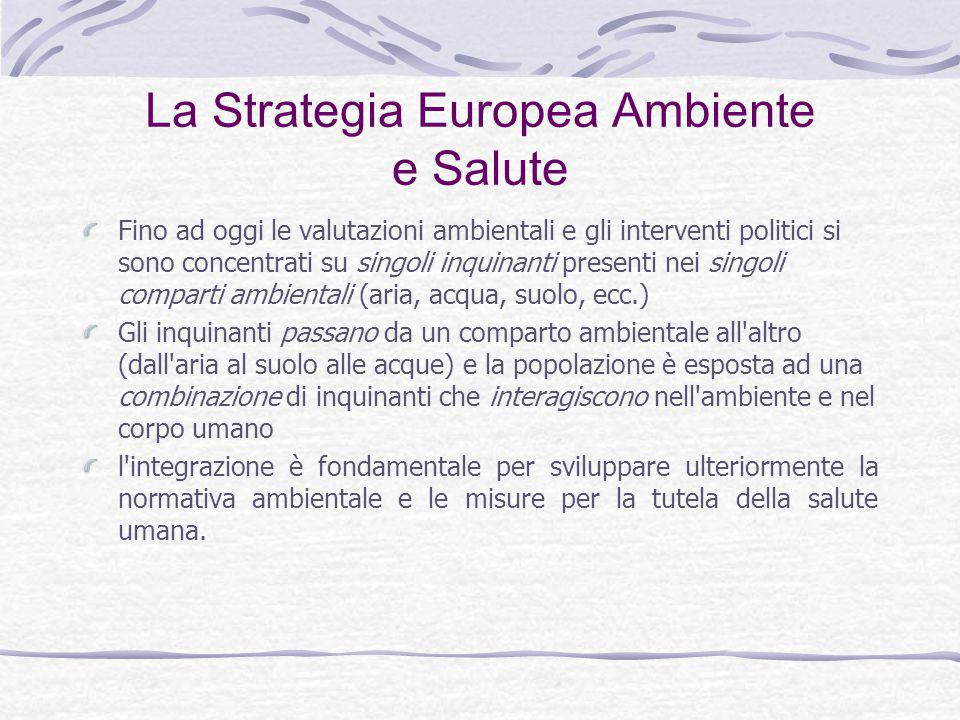 La Strategia Europea Ambiente e Salute