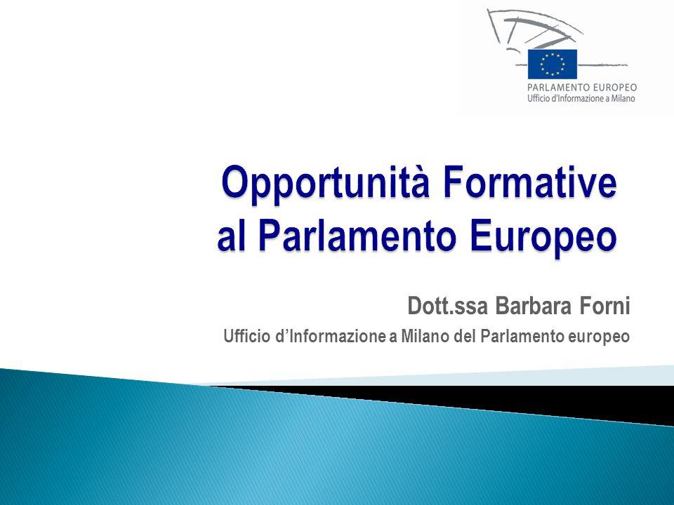 Opportunità Formative al Parlamento Europeo