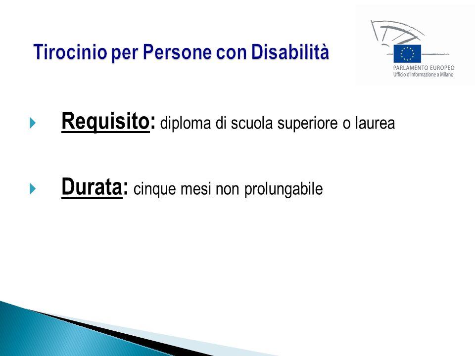 Tirocinio per Persone con Disabilità