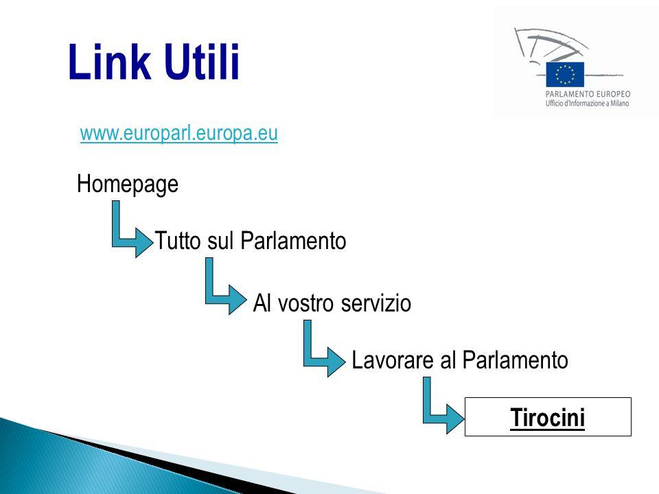 Link Utili Homepage Tutto sul Parlamento Al vostro servizio