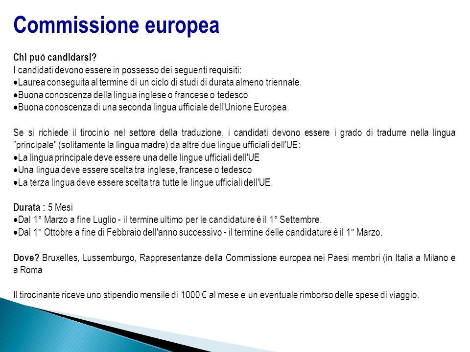 Commissione europea Chi può candidarsi