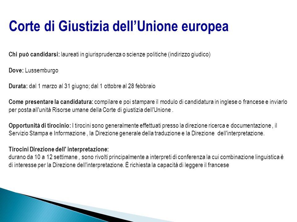 Corte di Giustizia dell'Unione europea